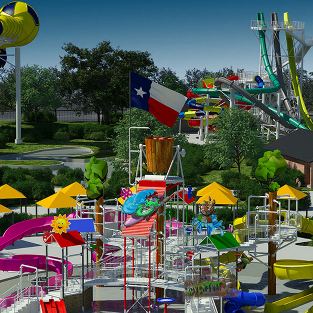Houston, Typhoon Texas WaterPark, August 2015, slides
