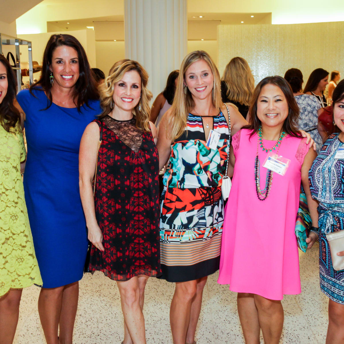 Houston, Ellevate event at Tootsies, August 2015, Kristin Hamilton, Jody Martin, Sharon Ainsworth, Cricket DeWalsh, Margaret Lee Pinkston, Nallely Trujillo-Conley