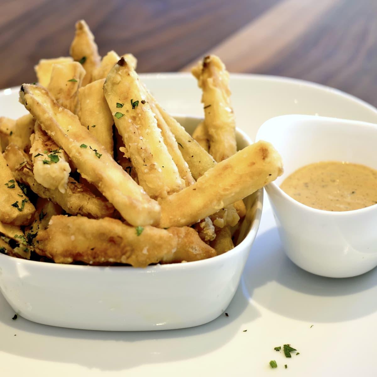 Houston, Bistro Menil, August 2015, eggplant fries