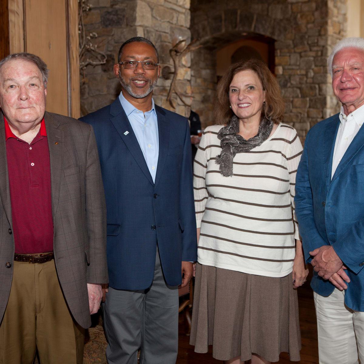 Houston, St. Luke's Foundation Summer Speaker Series Aspen, August 2015, Dr. James Willerson, Kevin Lofton, Doris Taylor, Leonard Tallerine