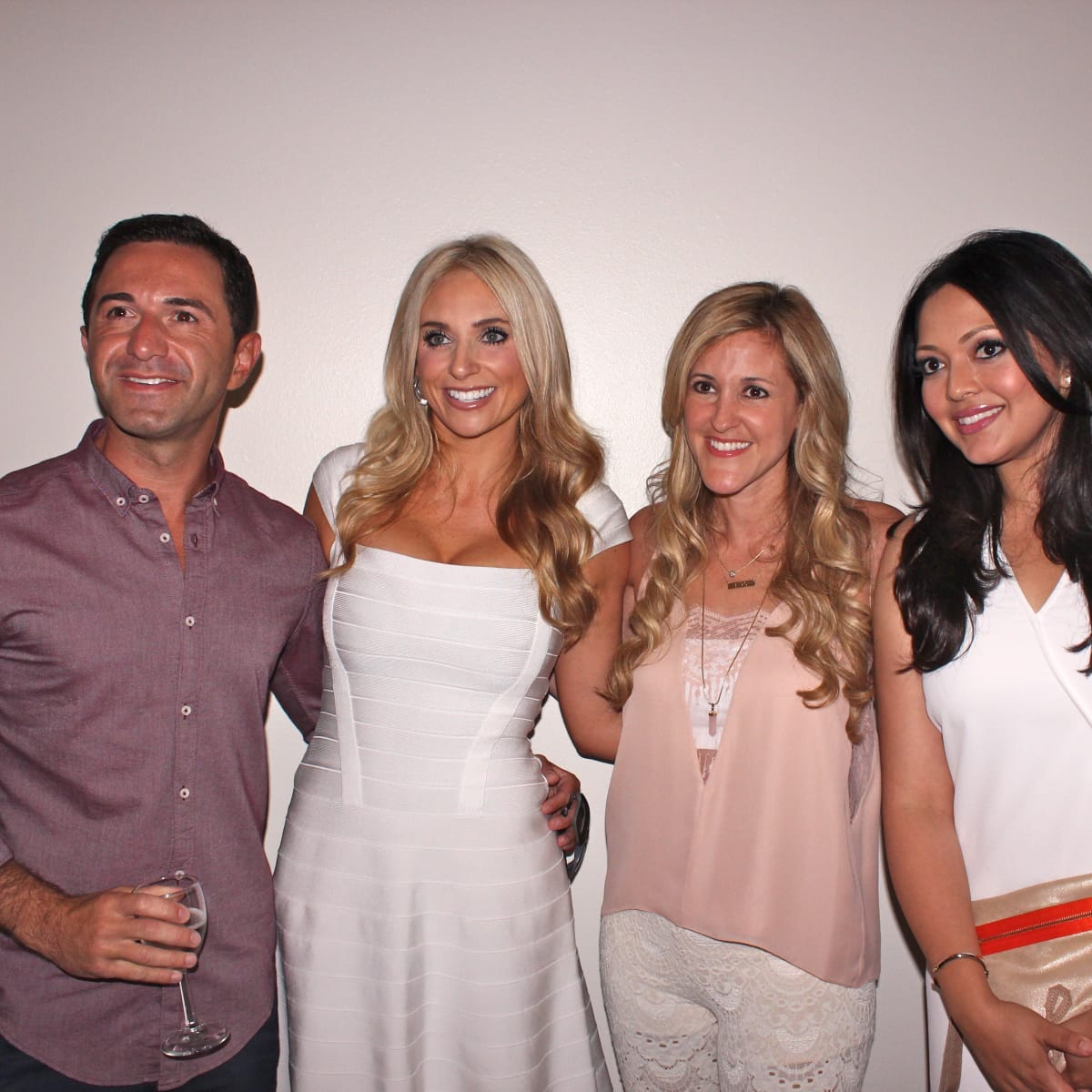 Houston, Chita Johnson engagement party, July 2015, Drew Karedes, Chita Johnson, Courtney Zubowski Haas, Rekha Muddaraj