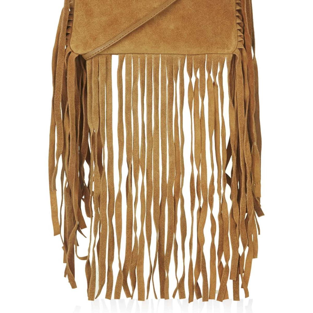 Topshop suede fringe crossbody bag - $52