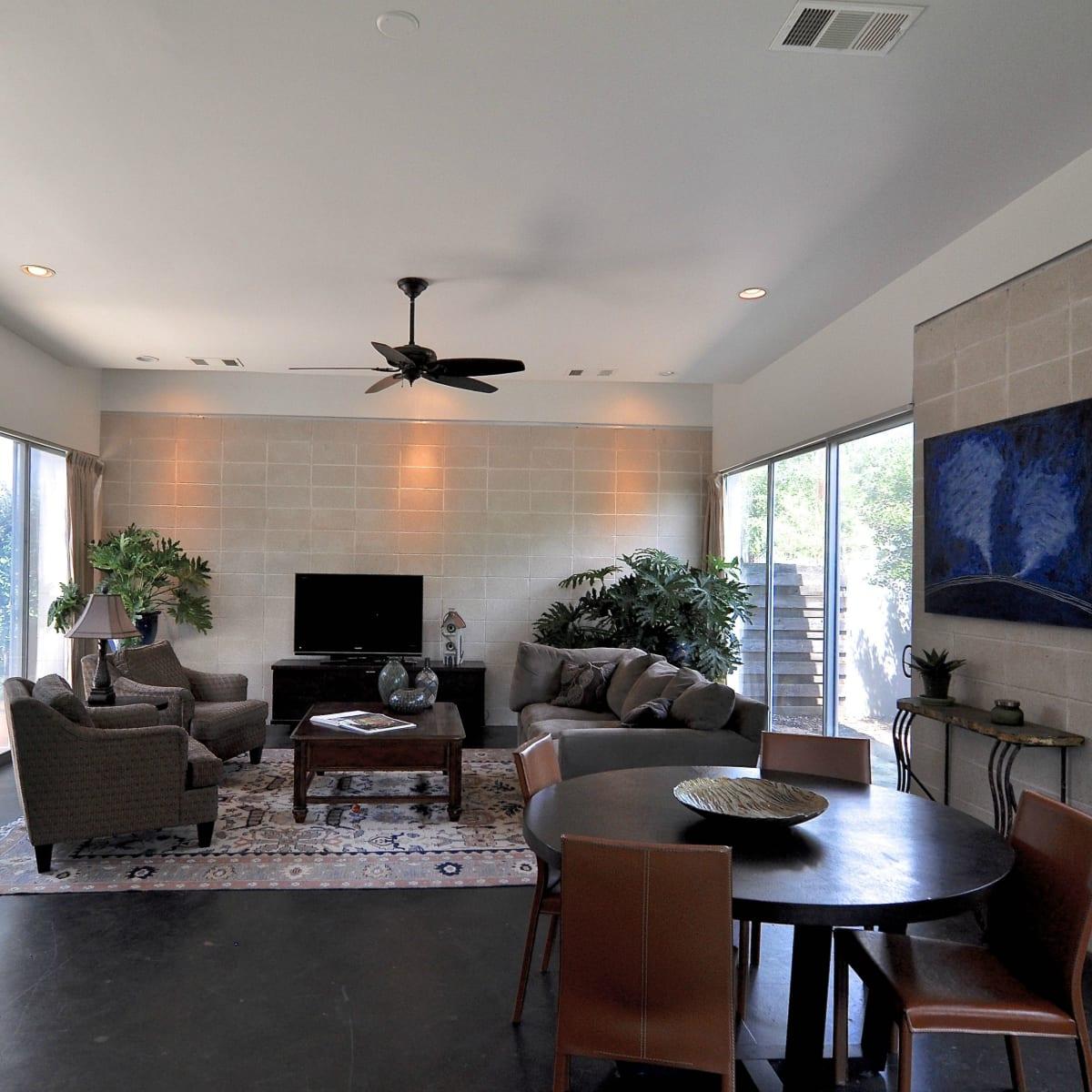 Austin home house 1011 E. 15th St. 78702 2015 living room