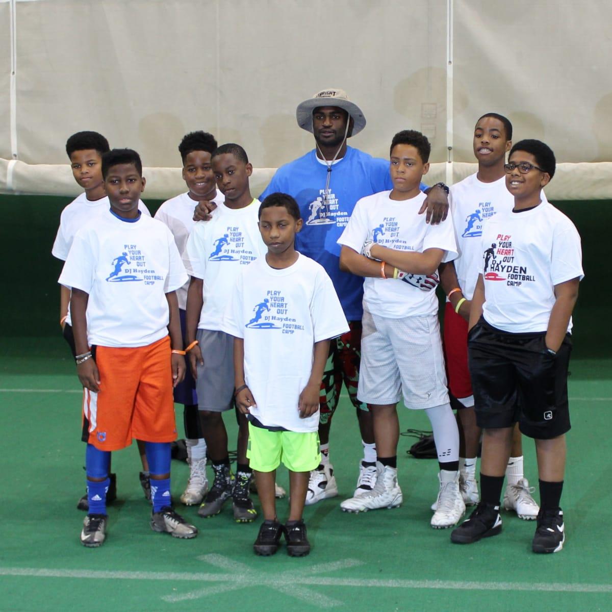 DJ Hayden Football Camp 2015 group