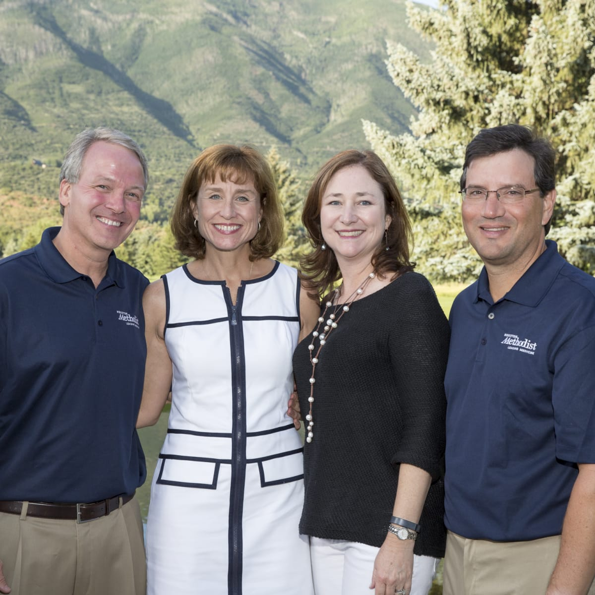 Houston Methodist in Aspen, July 2015, Dr. Marc Boom and Dr. Julie Boom, Mary Jo and Mick Cantu