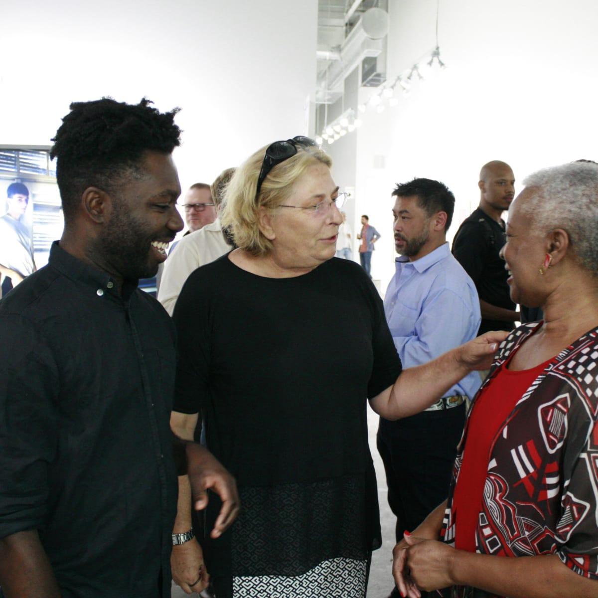 FotoFest Opening Paul Mpagi Sepuya Elaine Thweatt and Paul's mother