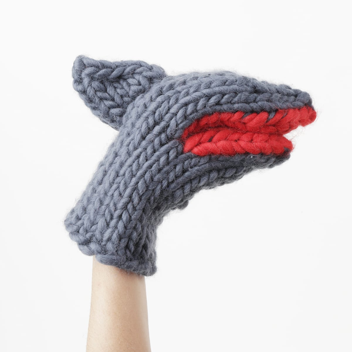 Shark Bruce Knitmitts Wool and the Gang