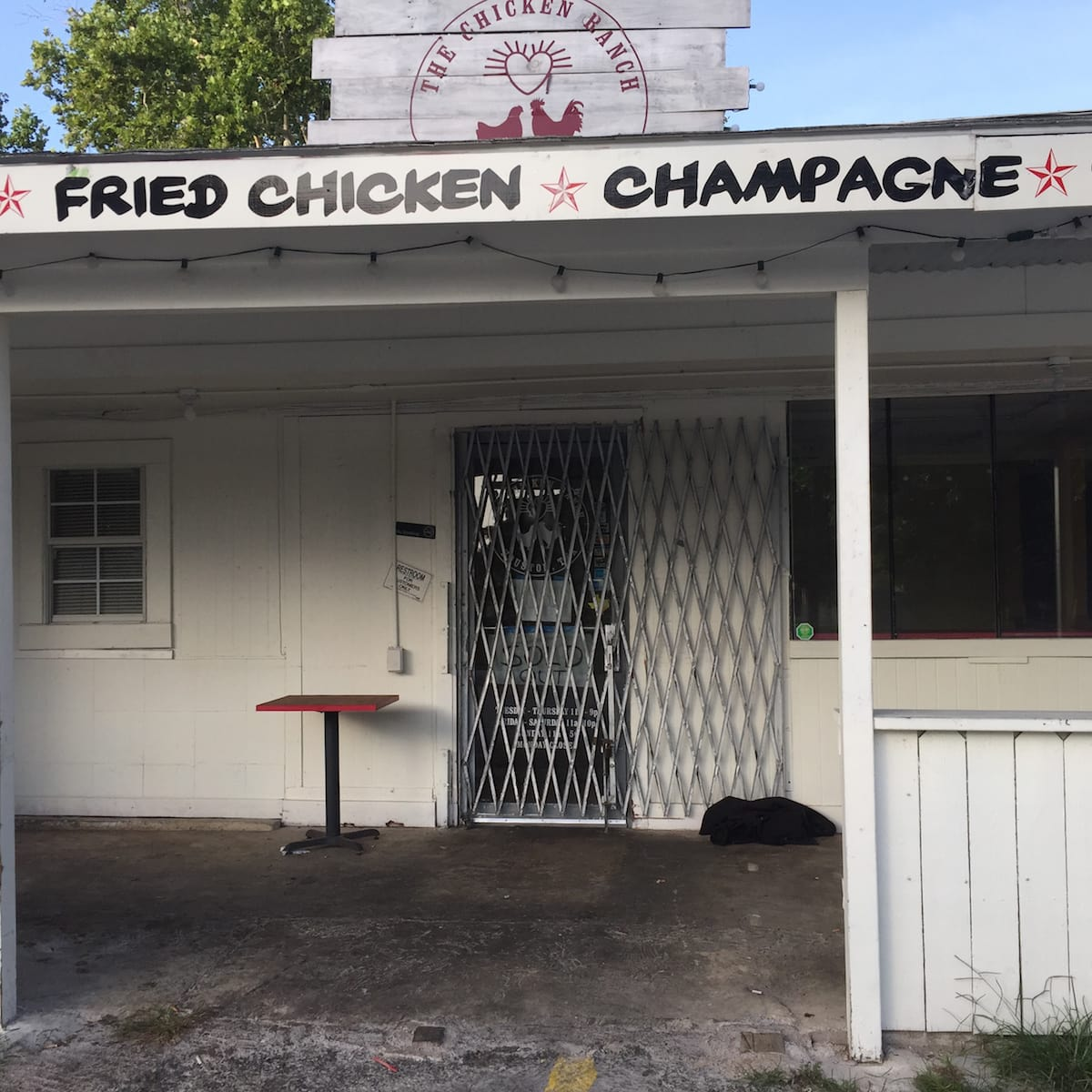 Chicken Ranch closed exterior