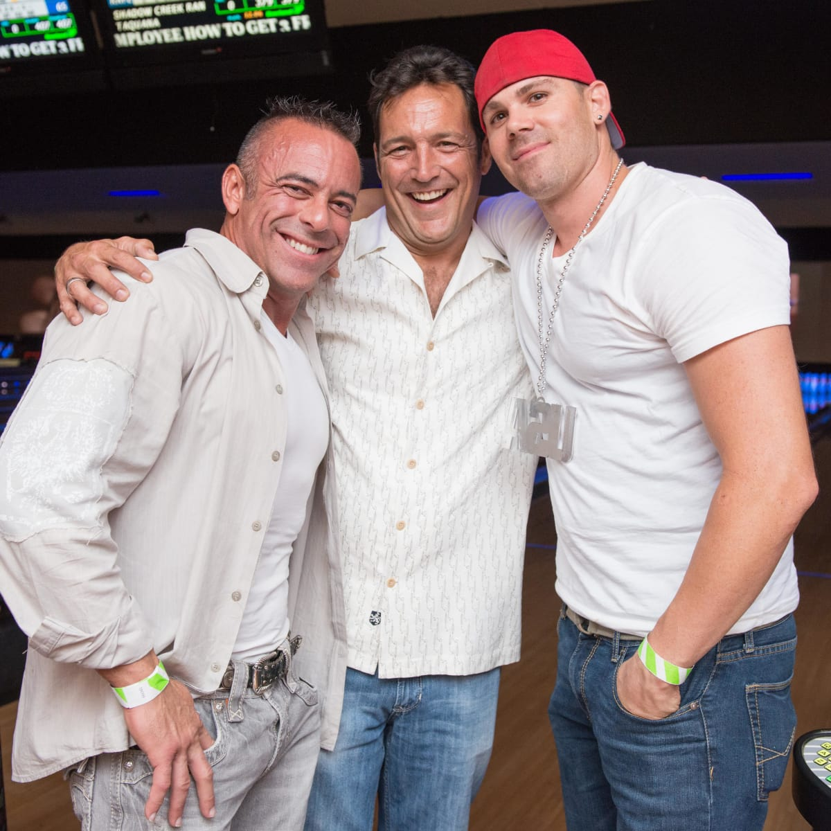 Chester Pitts bowling event Brian DeArmas, Bobby Little, Kevork Yekobian