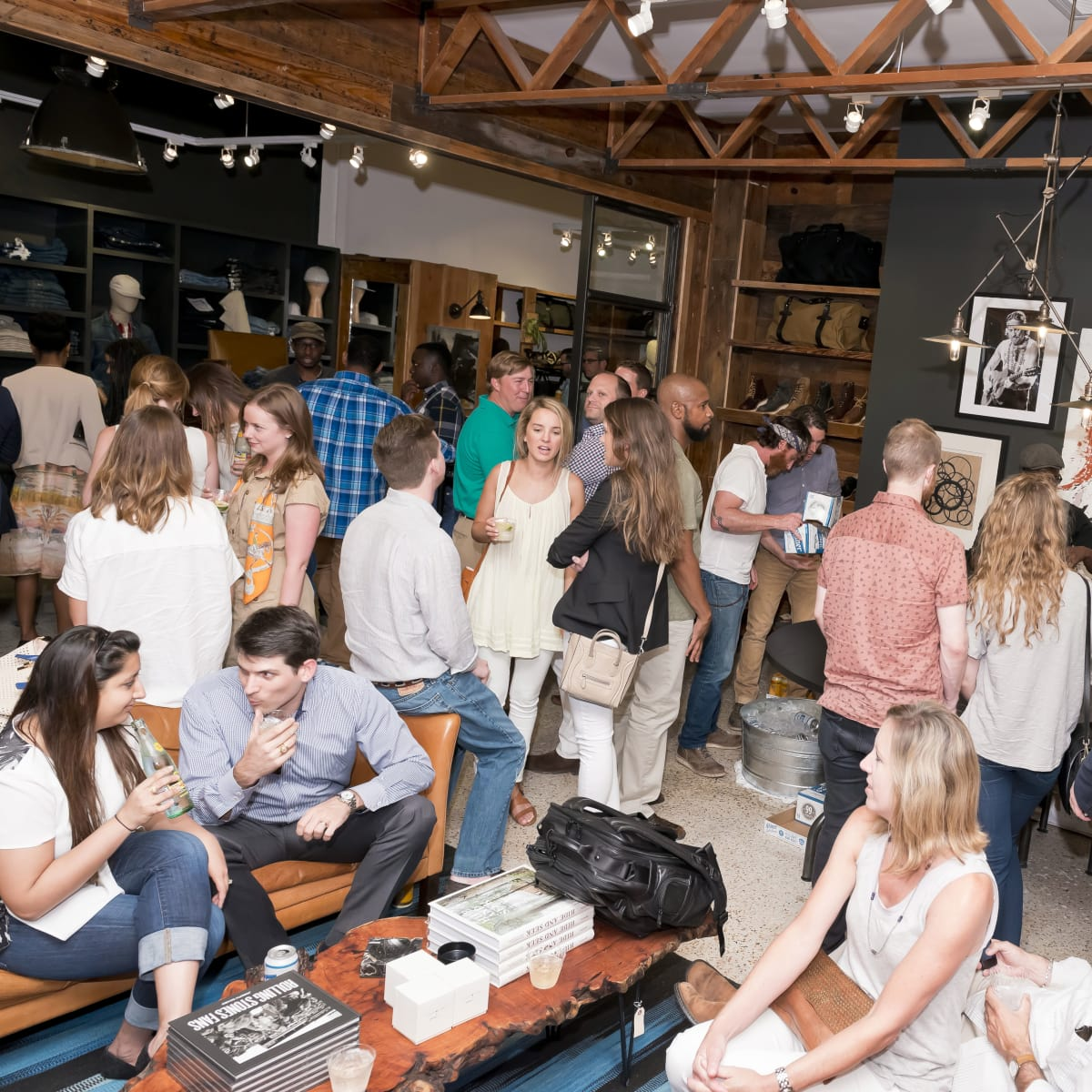 Houston, Stag Provisions opening party, June 2015, crowd shot