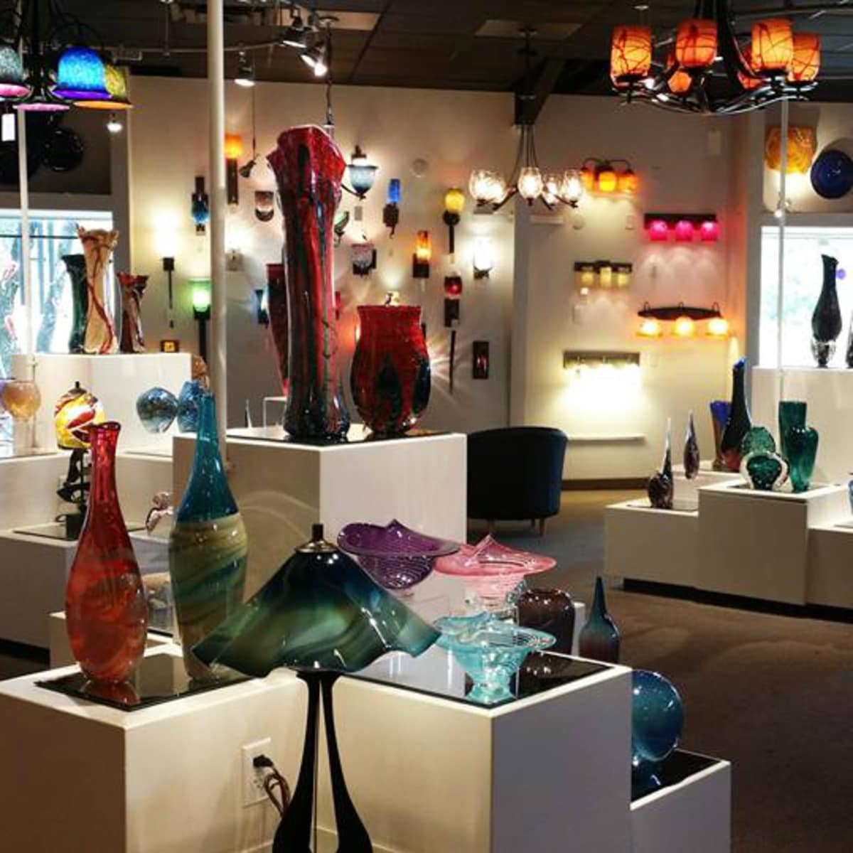 Wimberley Glassworks gallery blown glass lighting