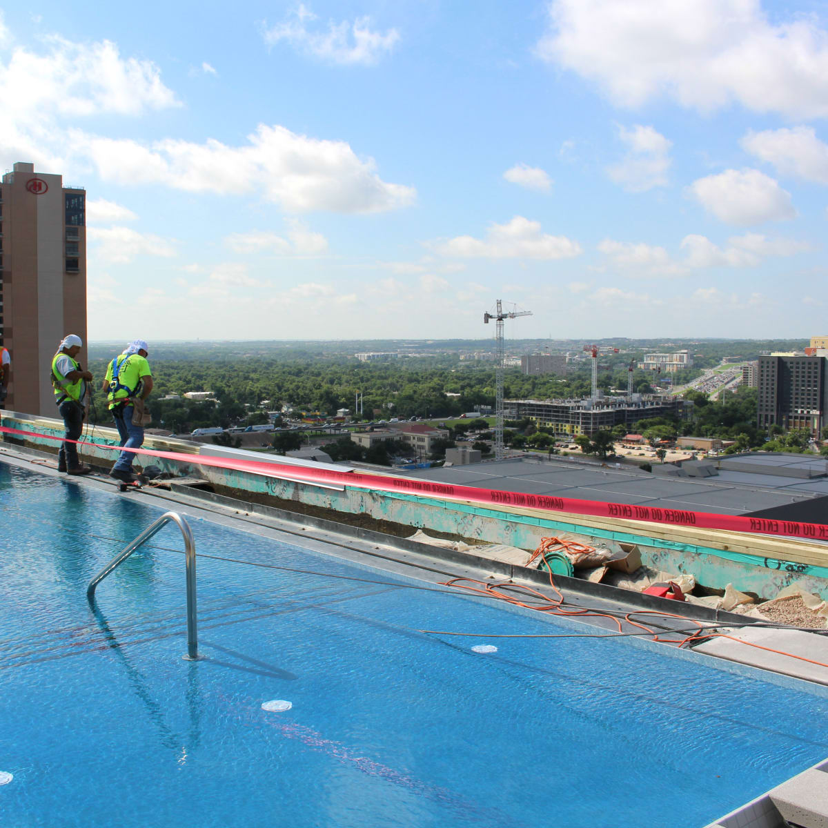 Westin Austin Downtown hotel rooftop pool 2015