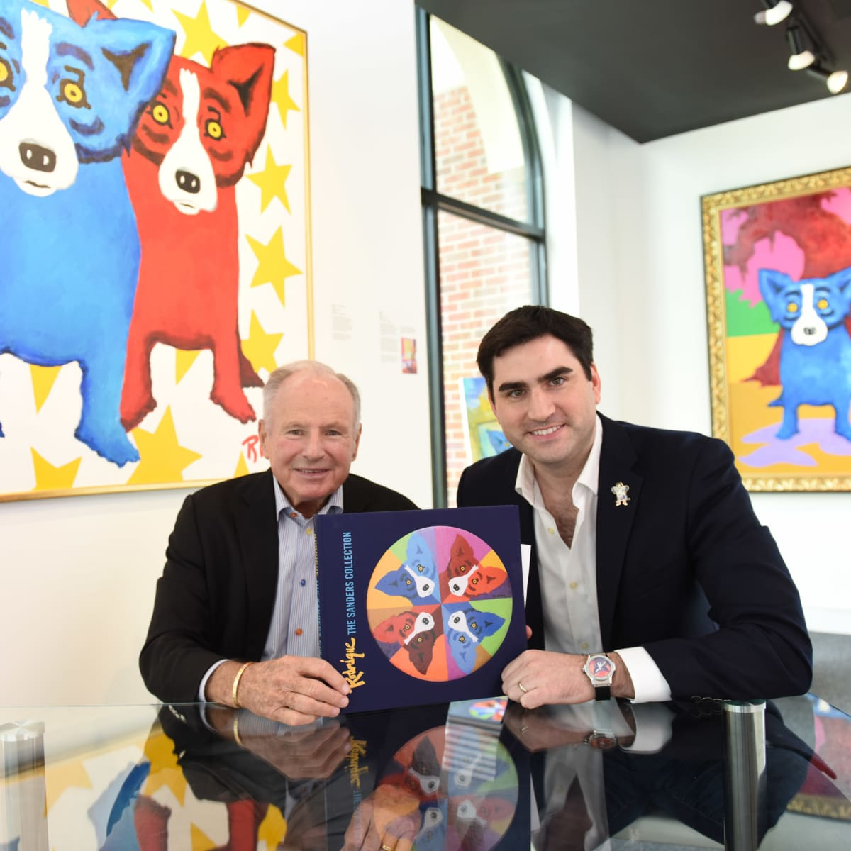 Houston, Rodrigue:Houston family day, June 2015, Don Sanders and Jacques Rodrigue