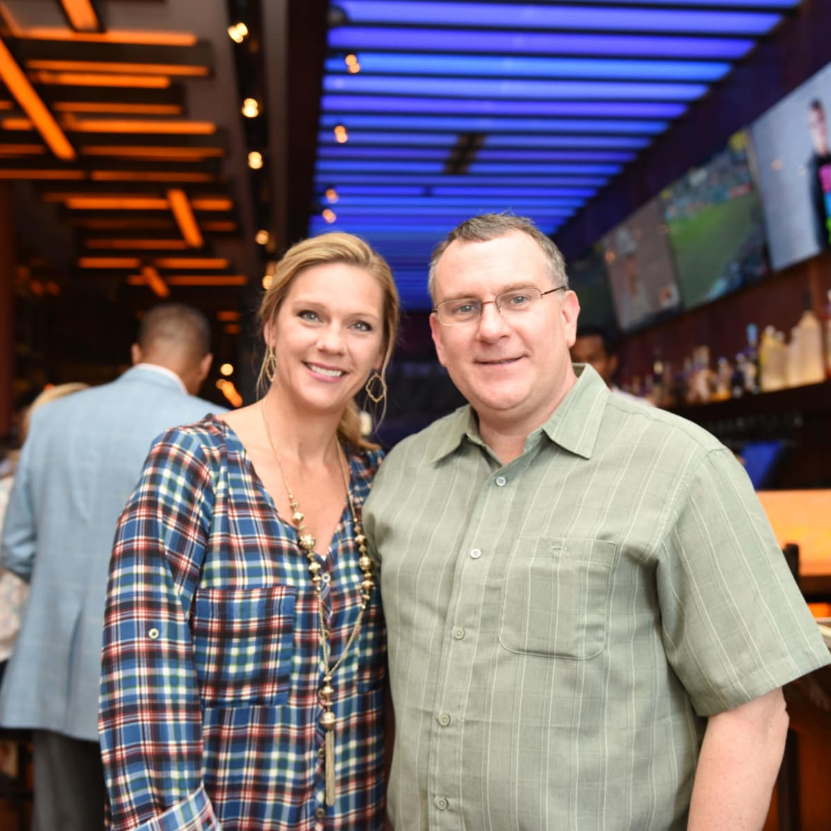Houston, George Springer Bowling Benefit Kick Off, June 2015, Ashley Richter, Lyndell Massengale