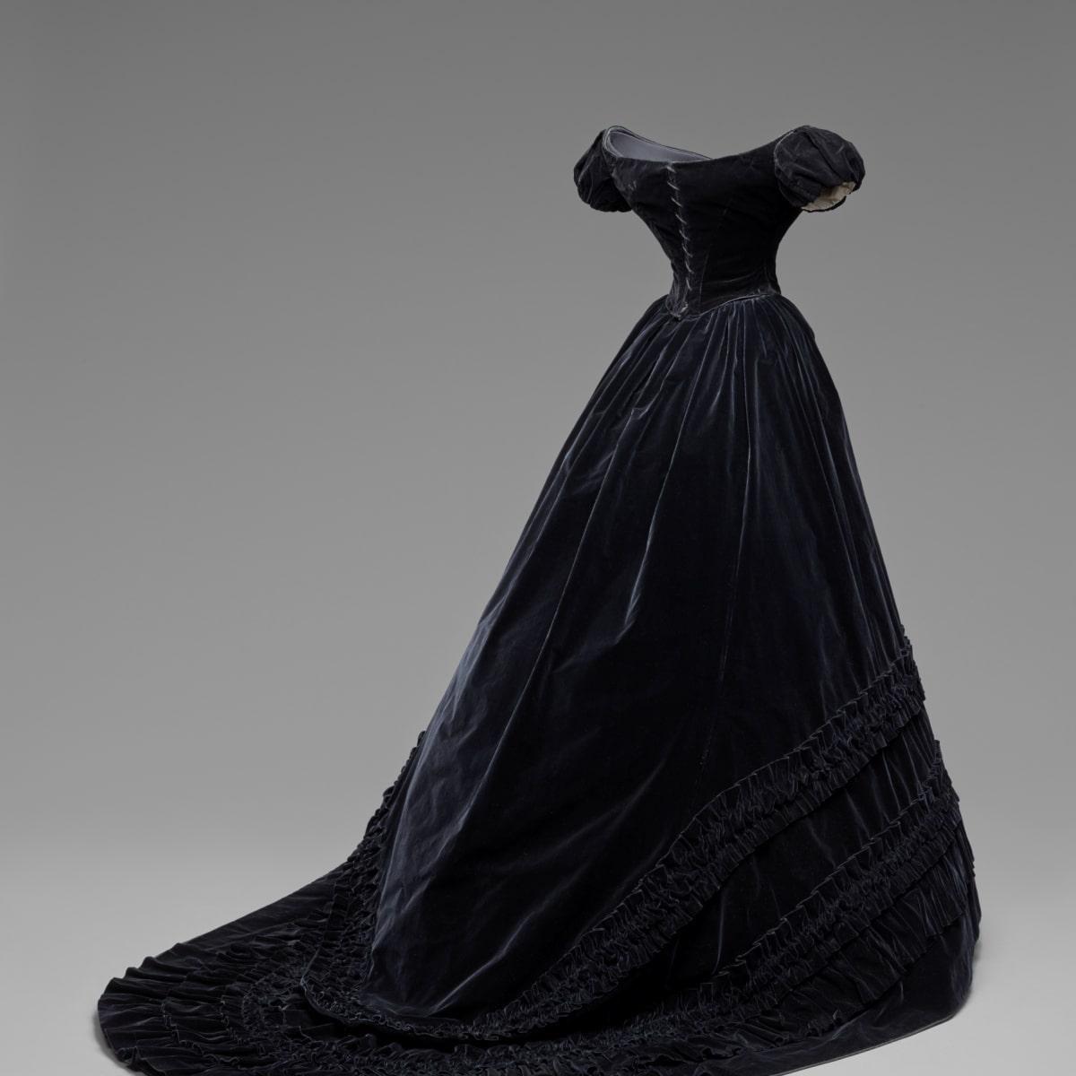Habsburg Splendor Black Velvet Dress
