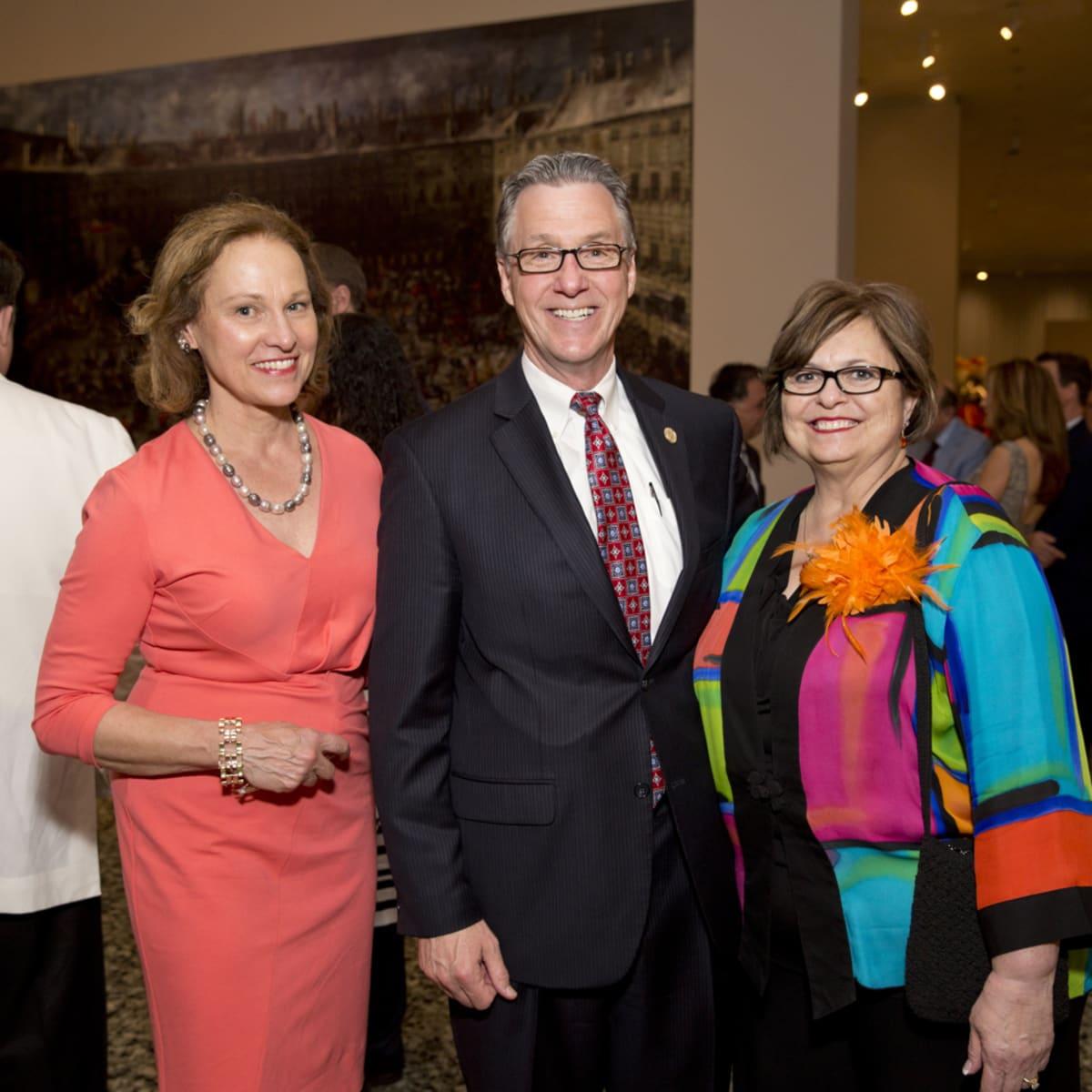 MFAH Habsburg Splendor dinner Minnette Boesel; Council Member Stephen Costello; Debbie Costello