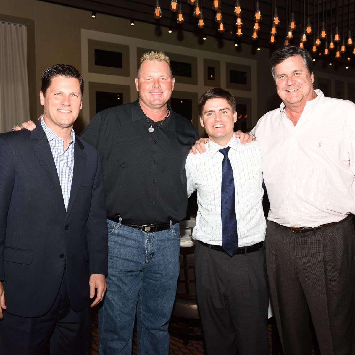 News, Roger Clemens at Vallone's, June 2015,-Randy McIlvoy, Roger Clemens, Scooter Hicks, & Perry Hicks