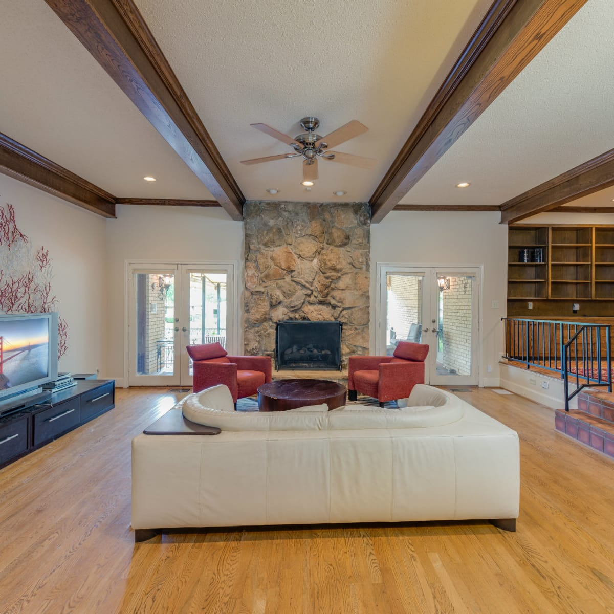 Living room at 4224 Briar Creek in Dallas