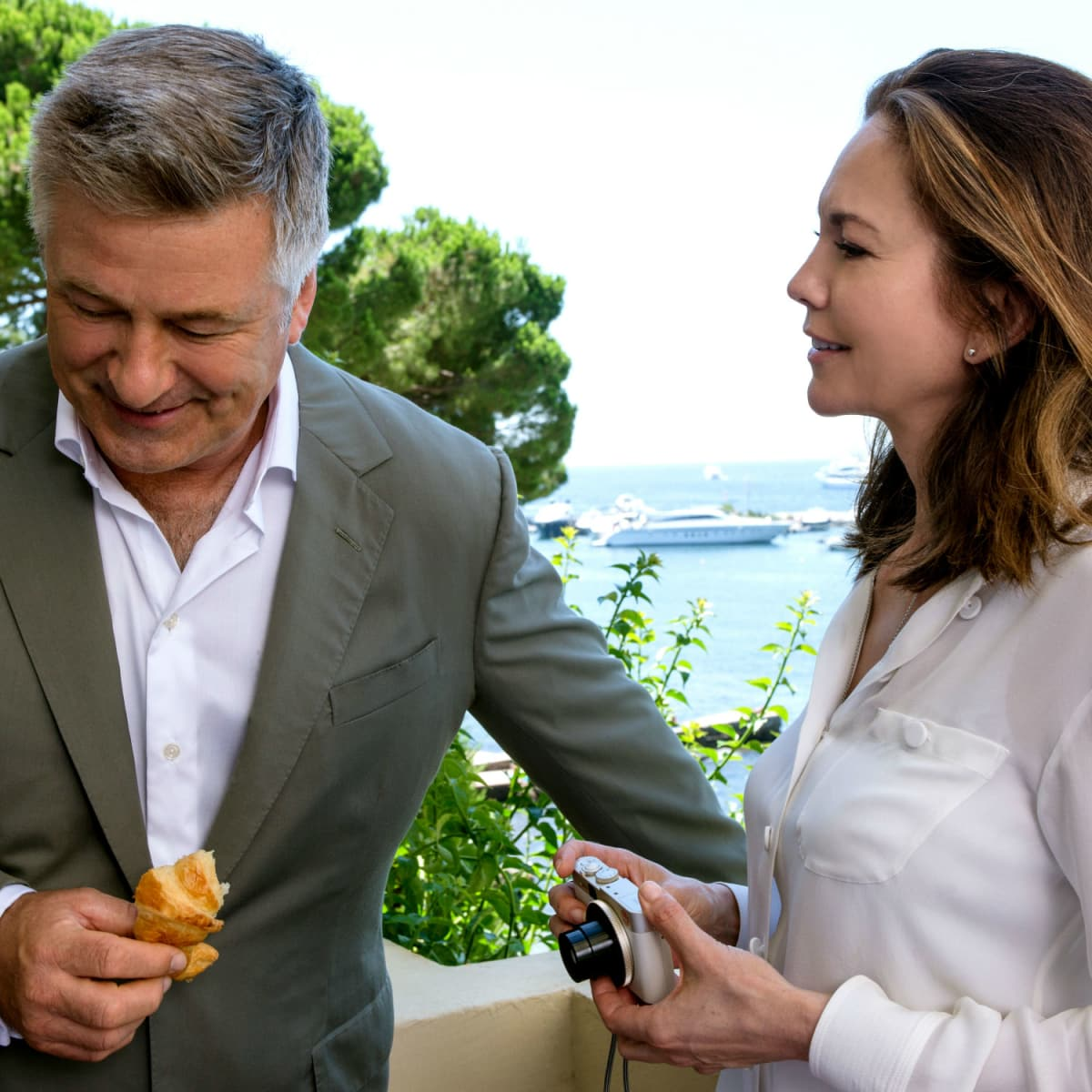 Alec Baldwin and Diane Lane in Paris Can Wait