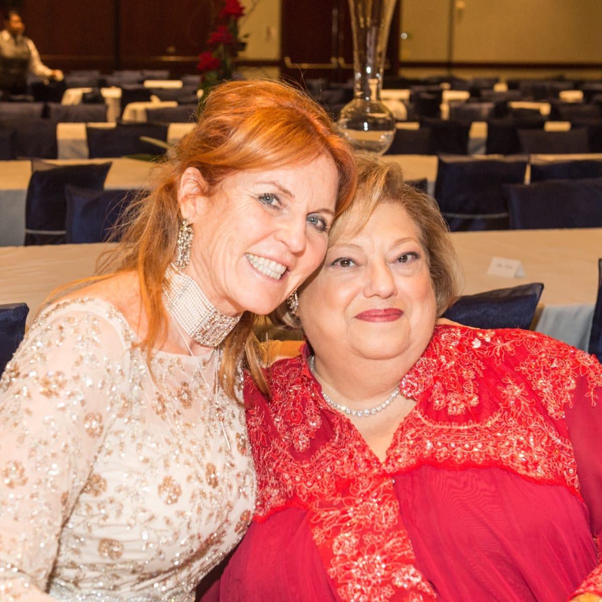 Sarah Duchess of York and Zarine Boyce at Virtuosi Gala