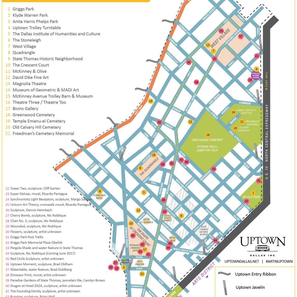 Uptown art map