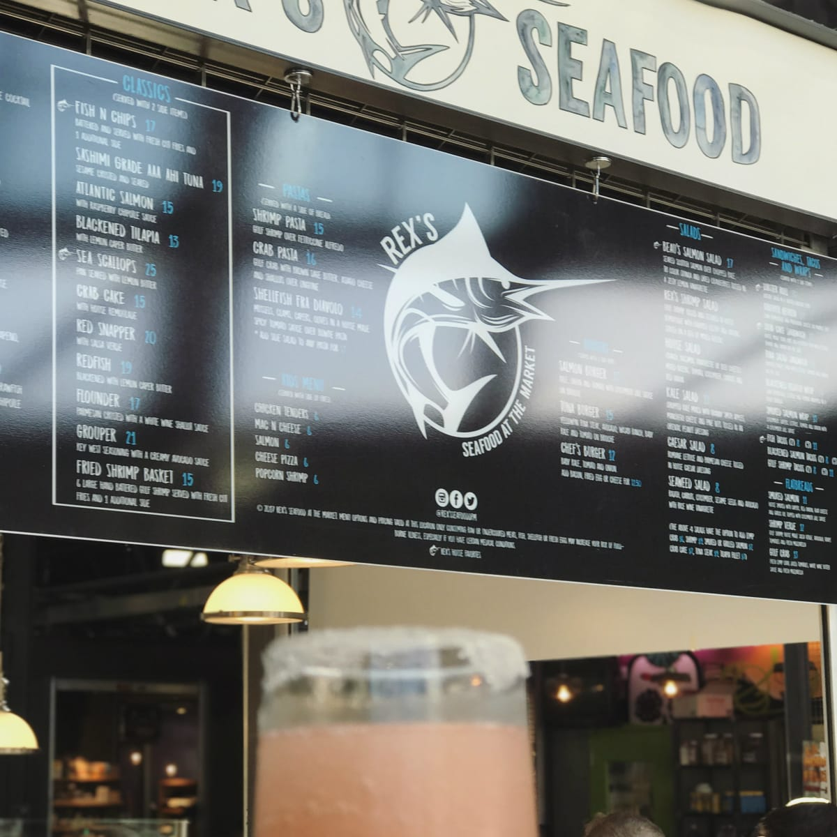 Rex's Seafood menu and frose