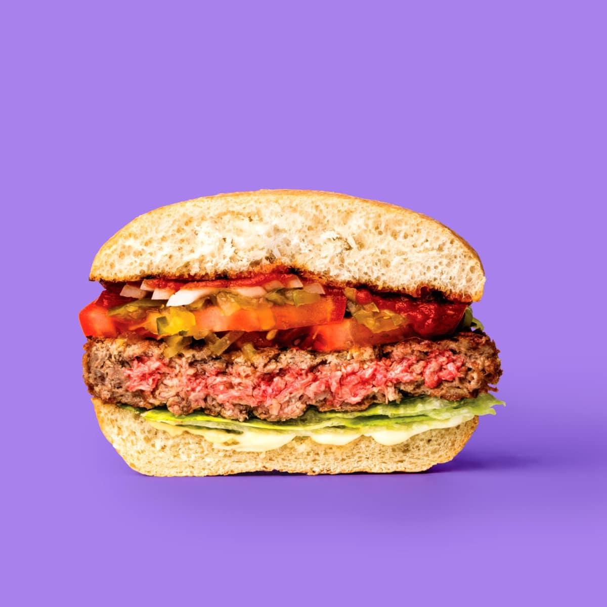 Impossible Burger half