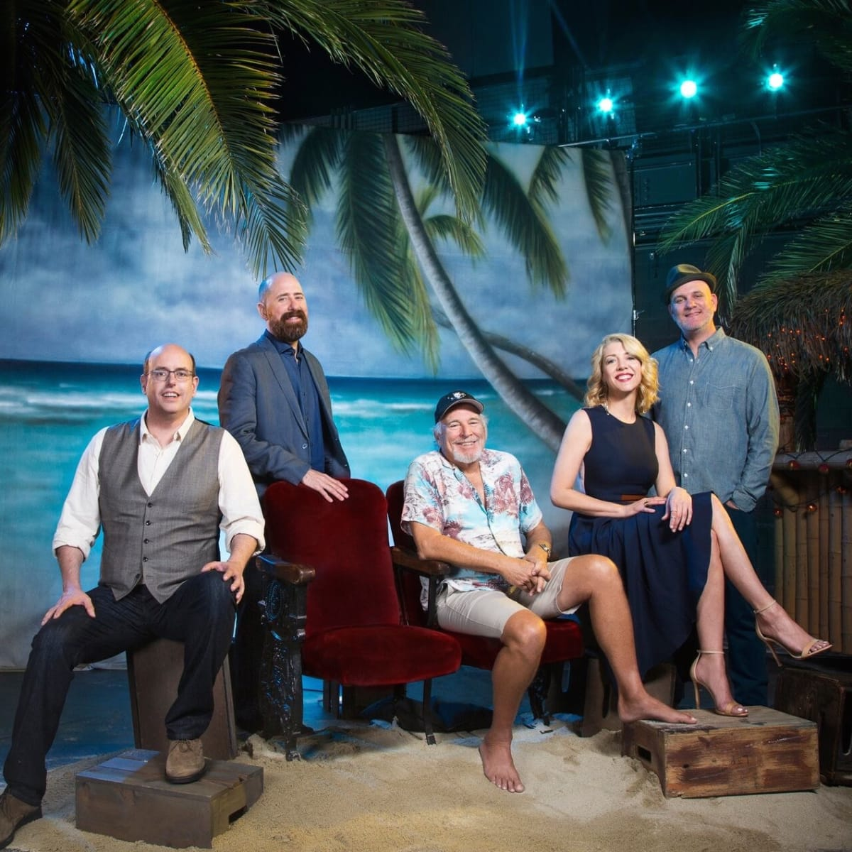 Escape to Margaritaville, Christopher Ashley, Greg Garcia, Jimmy Buffett, Kelly Devine, Mike O'Malley