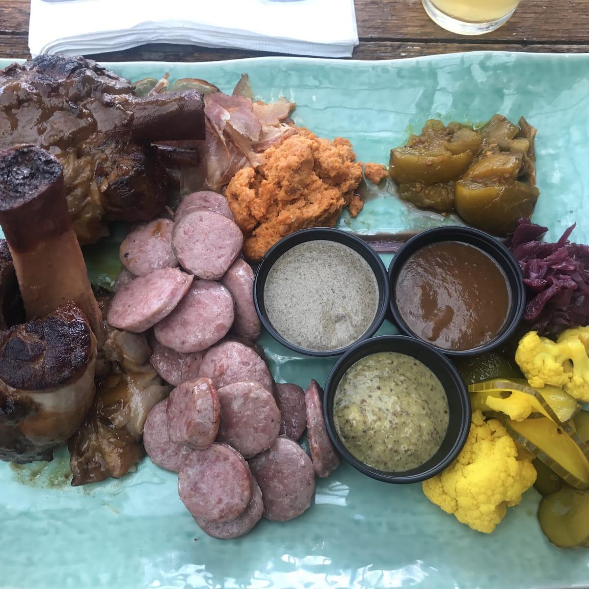 Heights Bier Garten pork shank platter