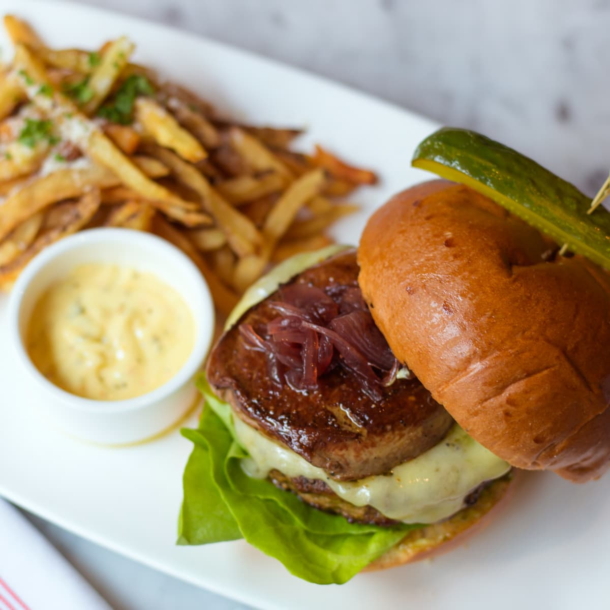 Houston, over the top burgers, June 2017, Foie Gras at Toulouse