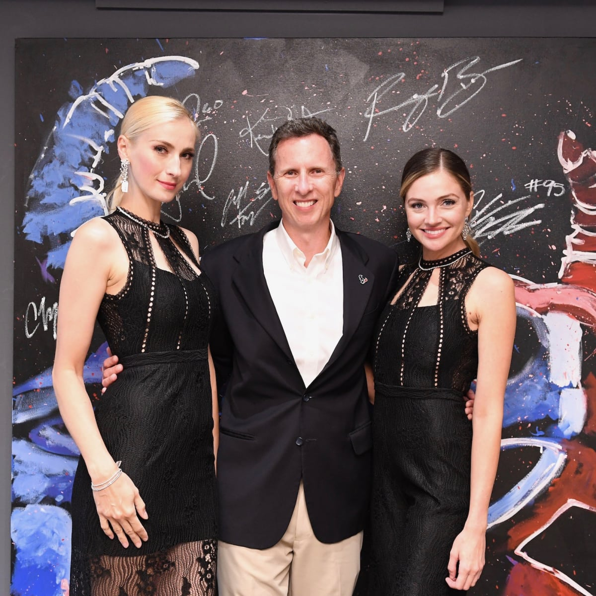 Marc Vandermeer and models at Guy's Night Out party at IW Marks Jewelers