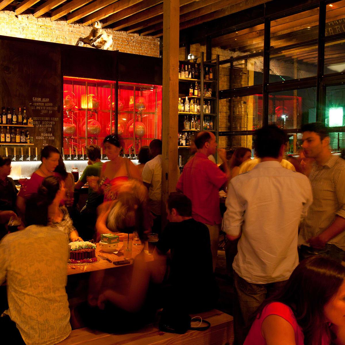 Mongoose Versus Cobra bar Houston interior with crowd
