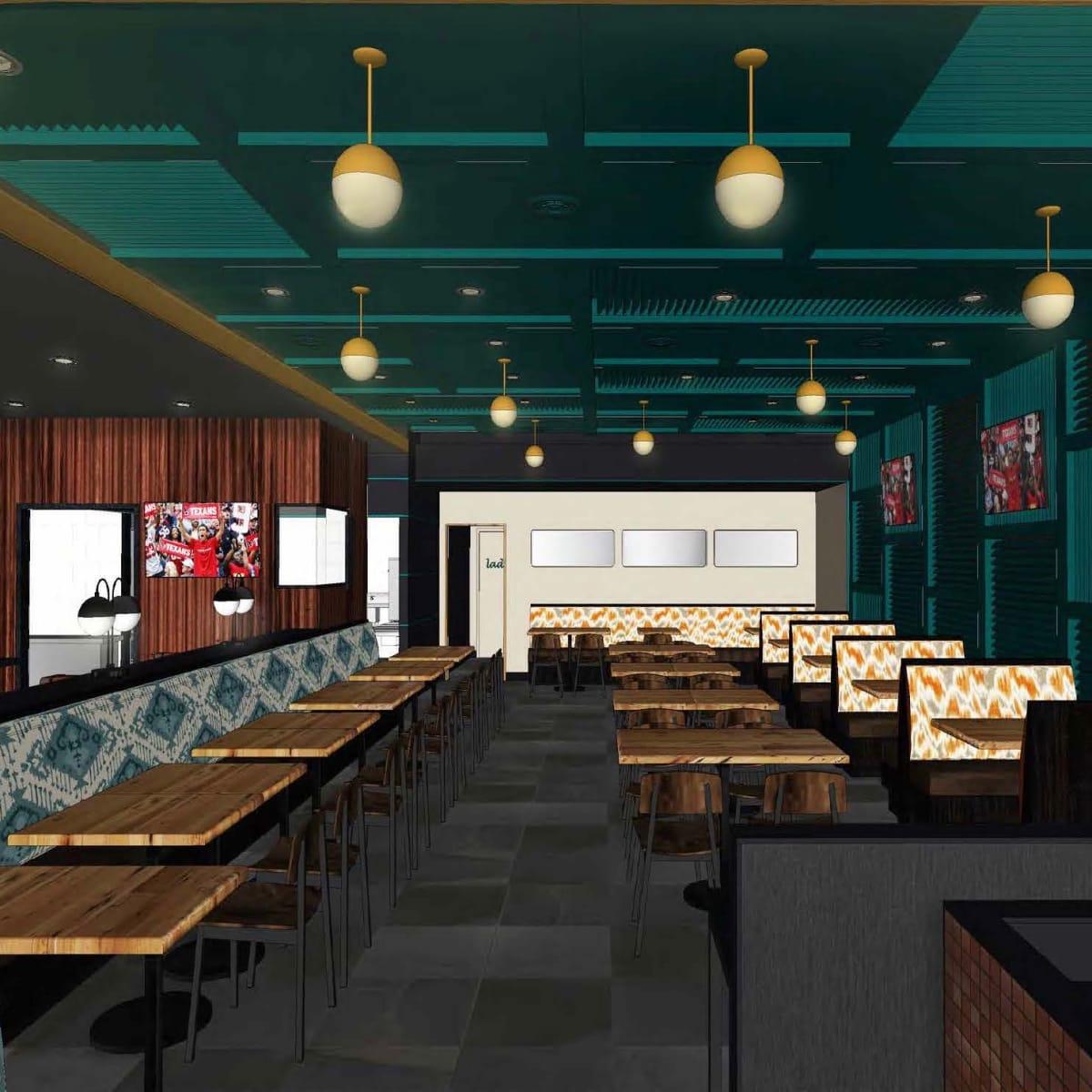 Fielding's Rooster interior rendering