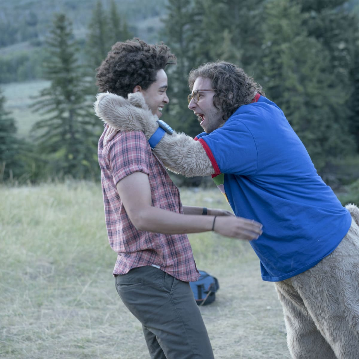 Jorge Lendeborg Jr. and Kyle Mooney in Brigsby Bear