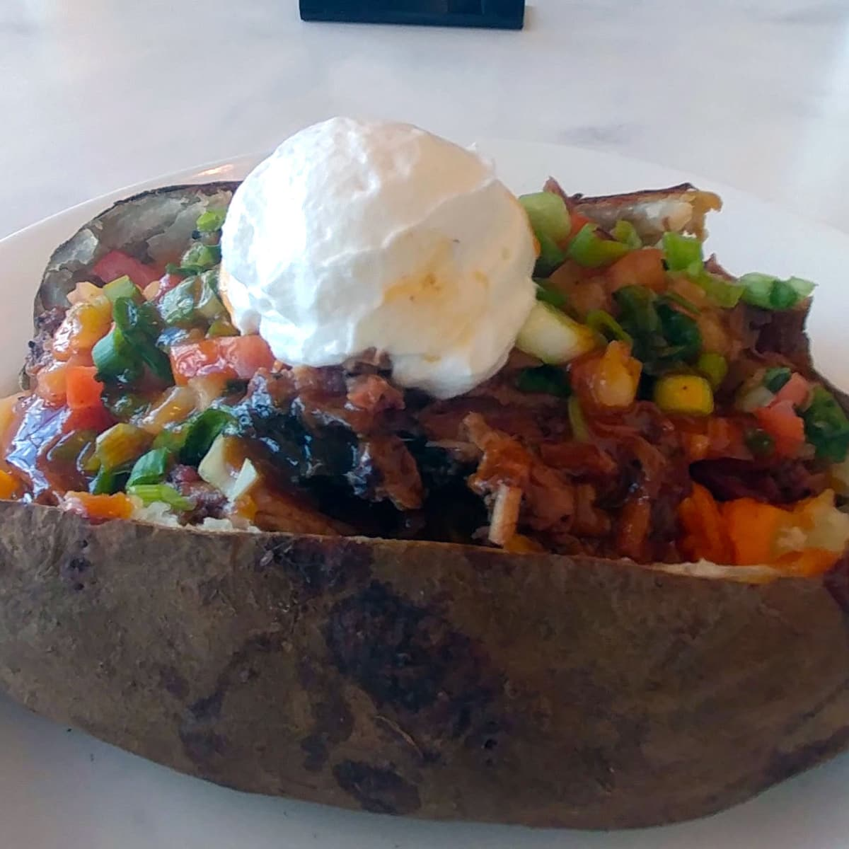 Houston, Texans whats new at NRG Stadium event, August 2017, baked potato