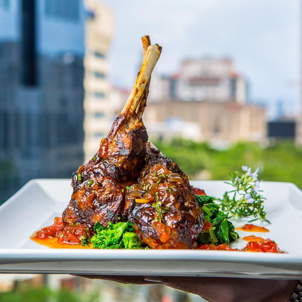 Third Coast Harissa-roasted lamb chops