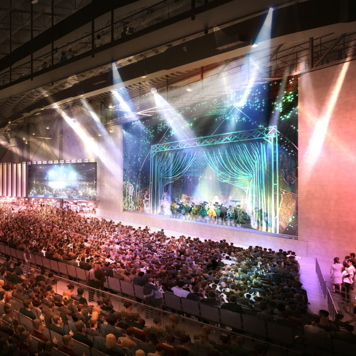 Rendering of Pavilion at the Music Factory in Las Colinas