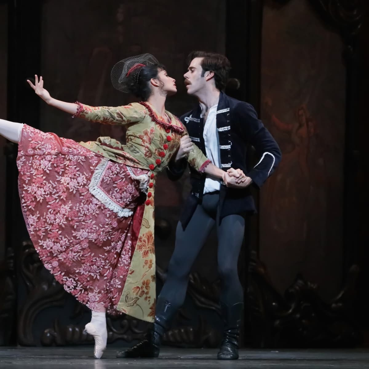 Houston Ballet Mayerling Karina Gonzalez as Baroness Mary Vetsera and Connor Walsh as Prince Rudolf