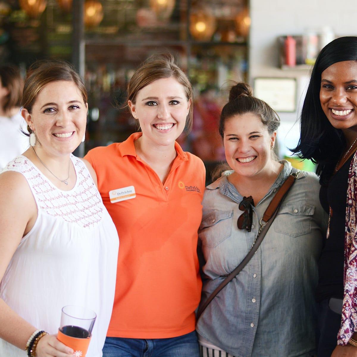 Houston, Depelchin Center Tailgate, September 2017, Becca Gibbens, Ashley Garner, Karen Campbell, Ashley Saunders