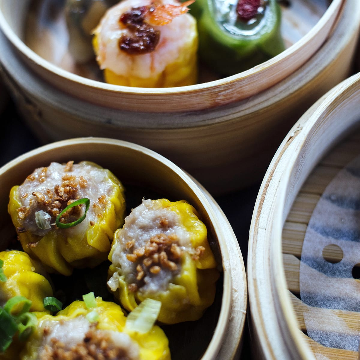 Houston, Dim sum assortment at Yauatcha, Sept 2017