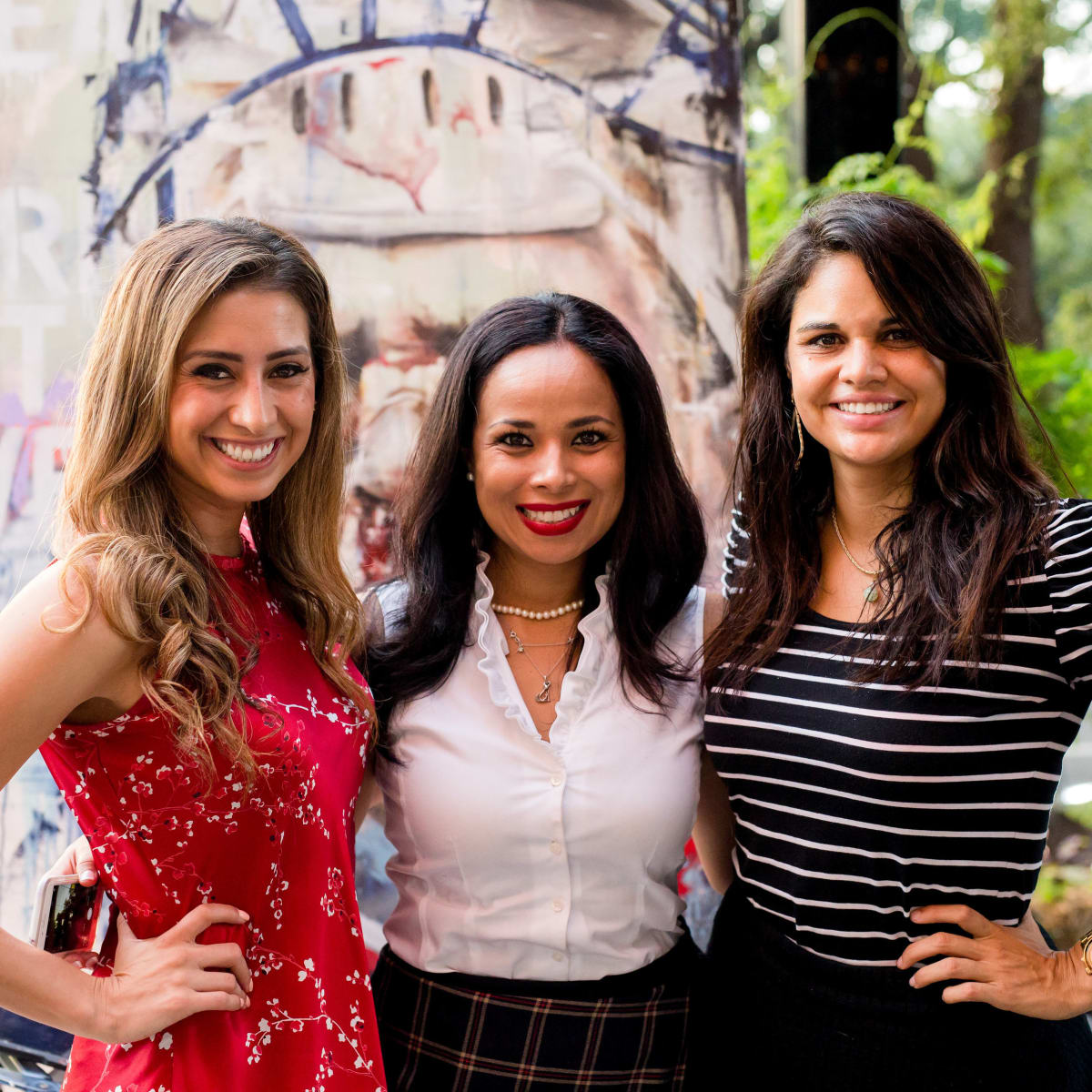 Houston, SportsMap launch party, October 2017,  Myndi Luevano, Claudia Soileau, Nelly Gonzalez