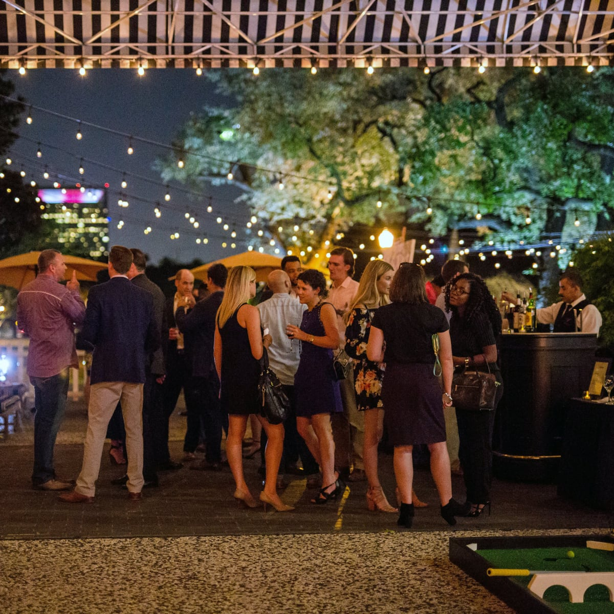 Houston, SportsMap launch party, October 2017, outside at Monarch