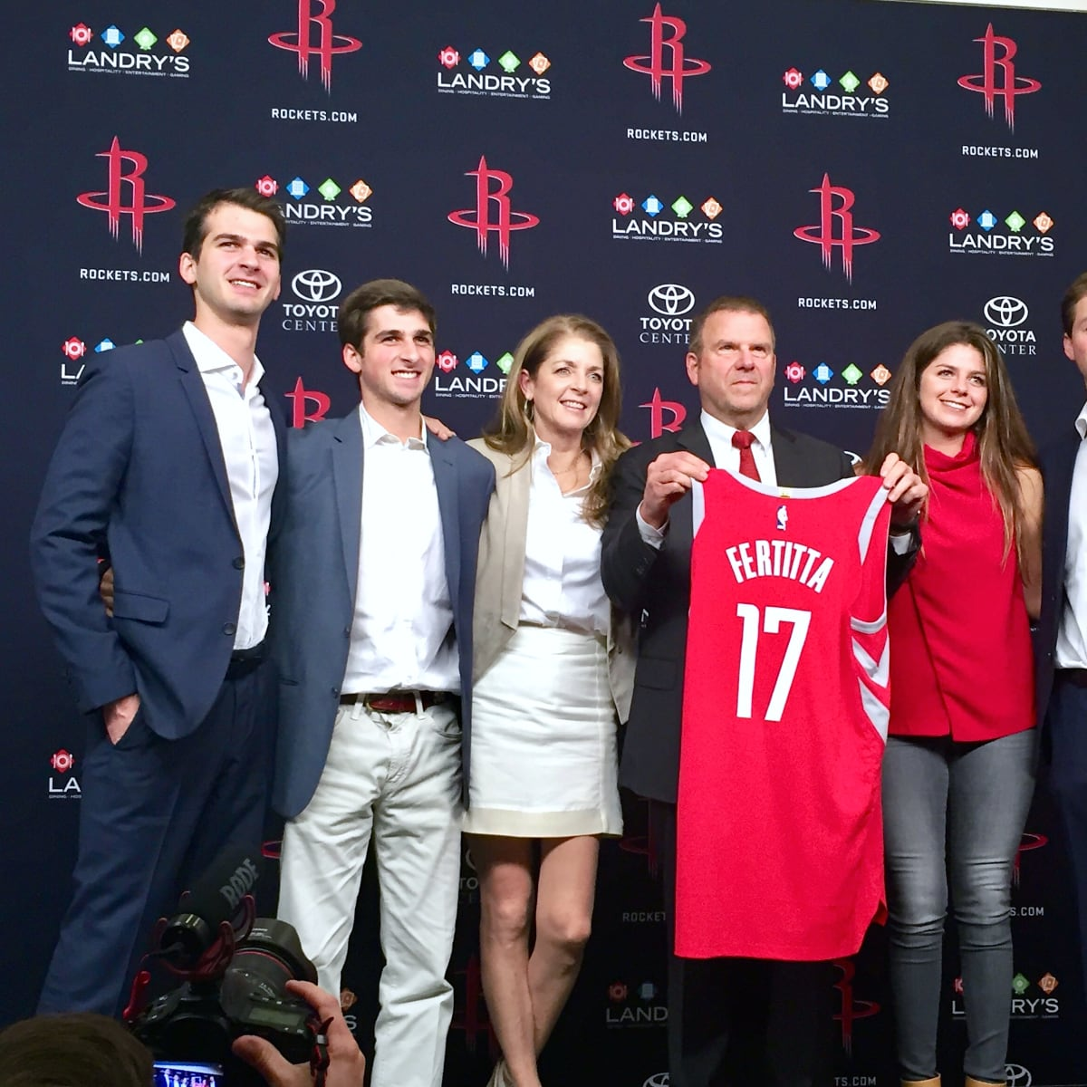 Houston, Rockets owner Tilman Fertitta and family, Oct 2017