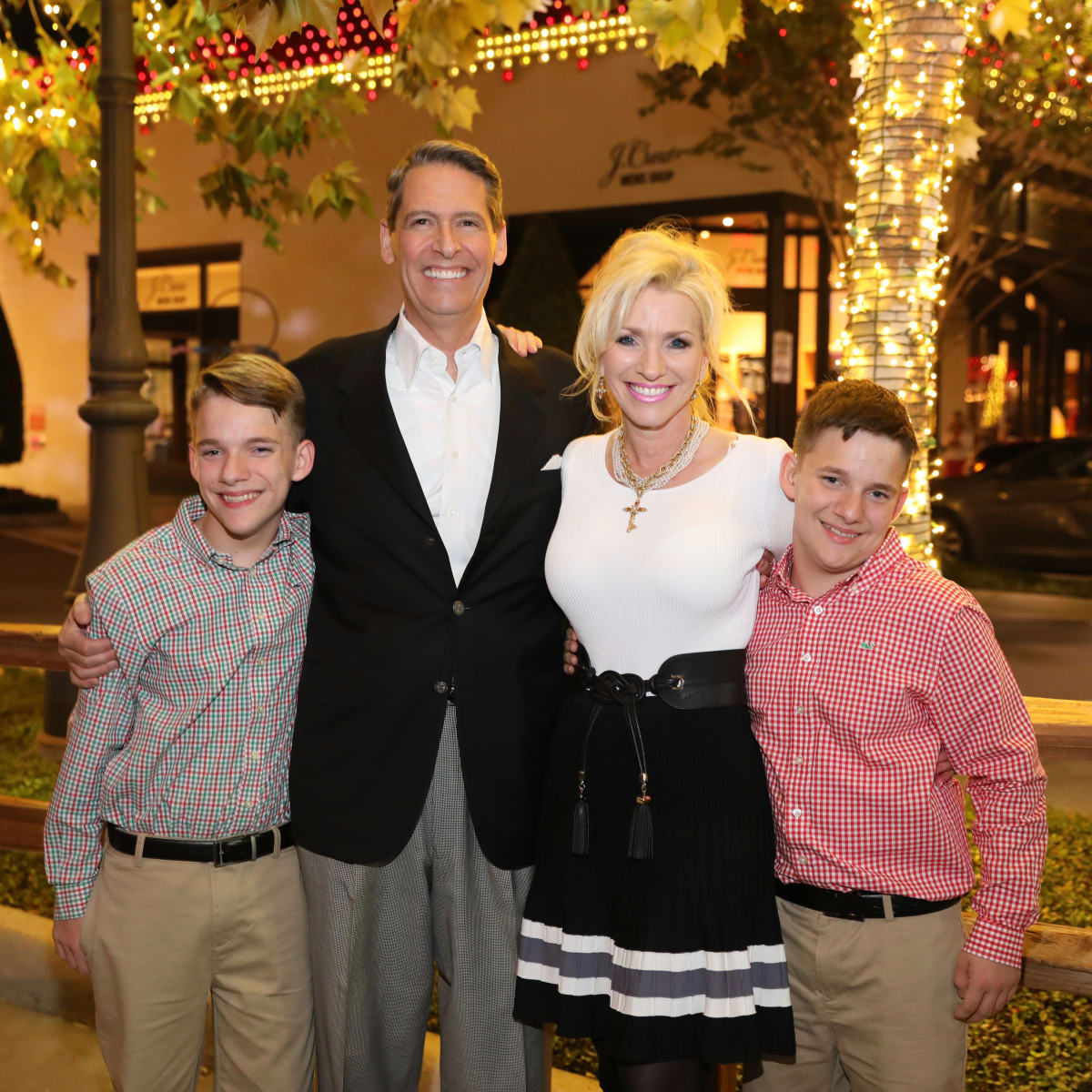 Trent DeClaire, Chris DeClaire, Laurie DeClaire and Patrick DeClaire at Holiday Shopping Card