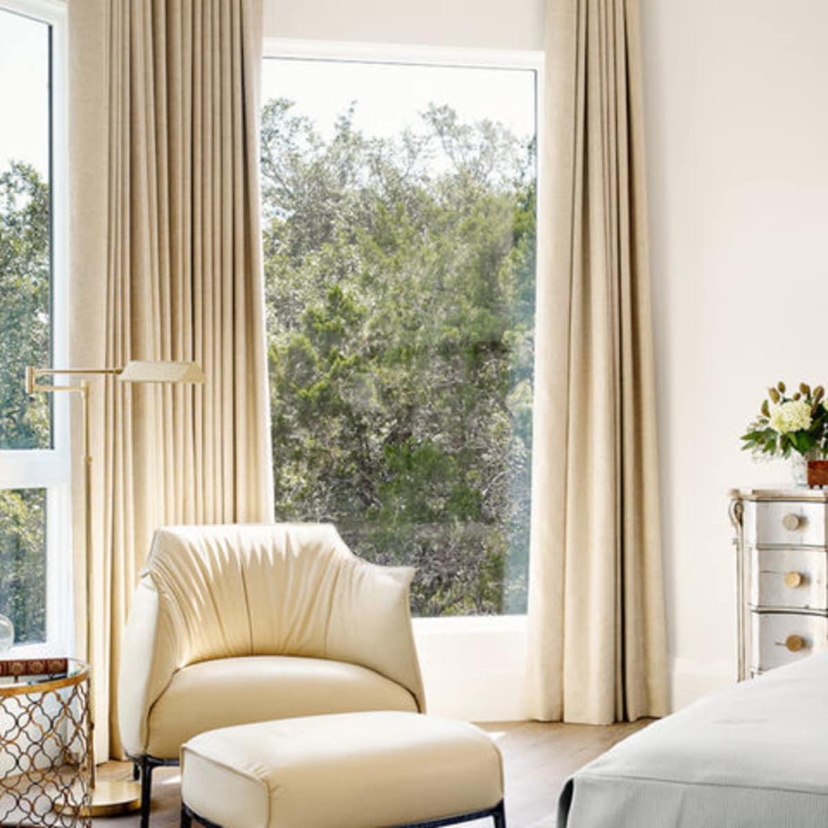 Tuscan home makeover Austin master bedroom