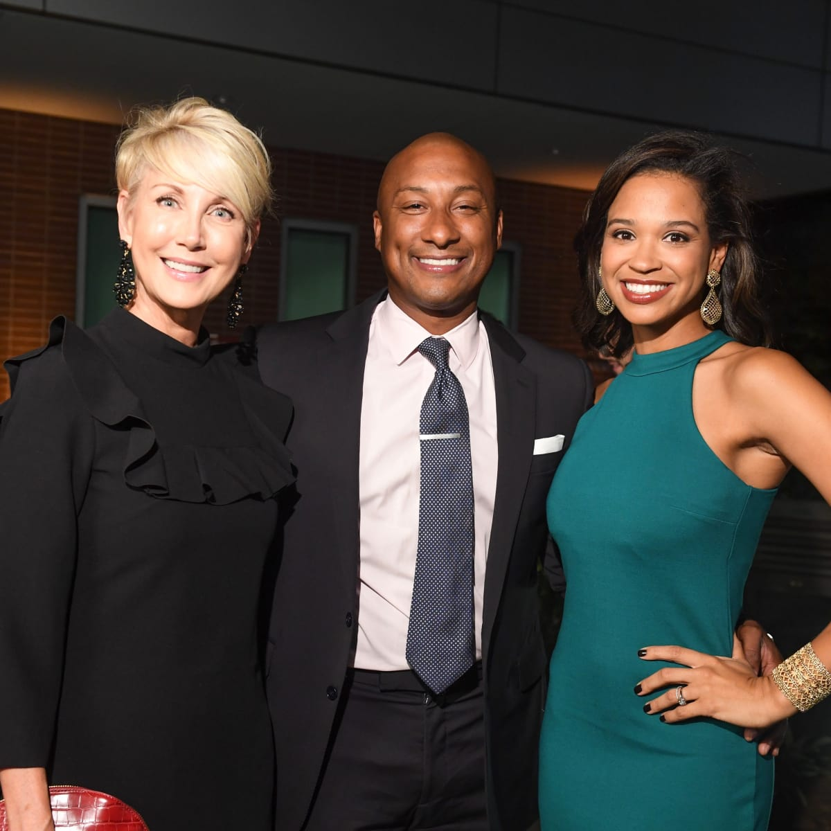 erri Moore, Troy Clendenin, Mia Gradney at Dress for Success Cuisine for a Cause