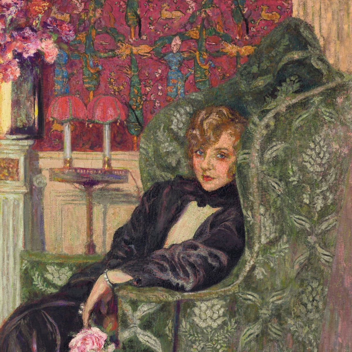 Edouard Vuillard_Yvonne Printemps in an Armchair, Bass art collection