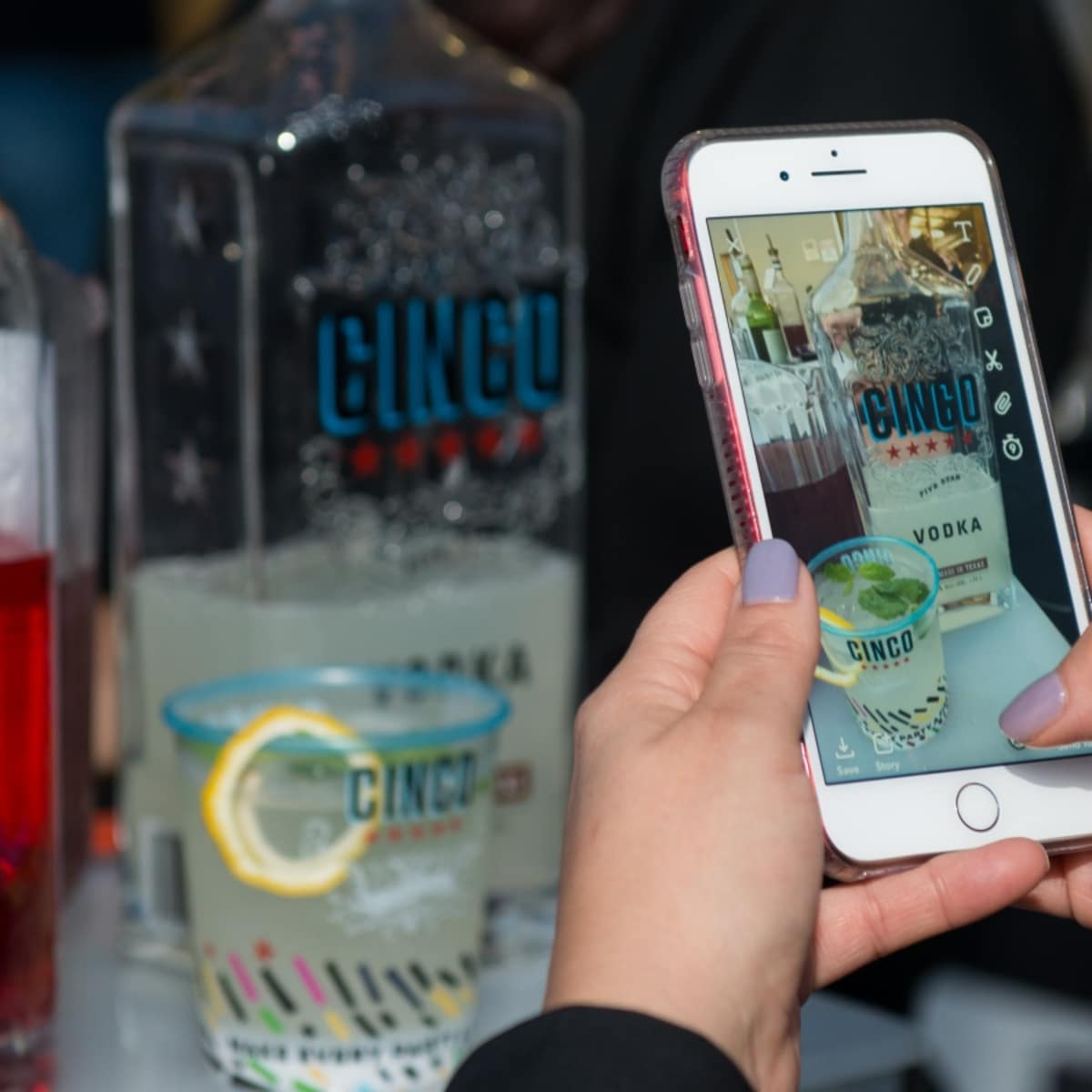 Houston, Founders Fest, November 2017, cocktail with Cinco Vodka