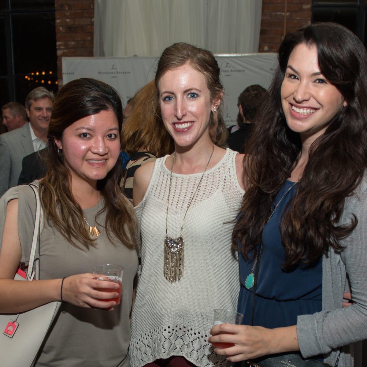 Holiday Spirit Social 2017 Jackie Le, Kristie Fischer, Rachel Burk
