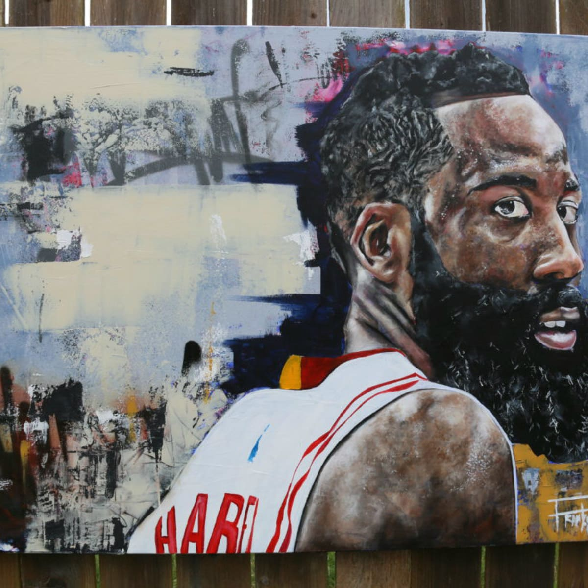 James Harden painting